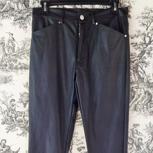 Nasty Gal Faux-leather Pants Size M